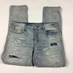 American Eagle Tomgirl Distressed Jeans 10 Long
